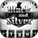 Black Silver Glitter Theme by Cheetah Keyboard Theme