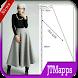 Dress pattern gamis