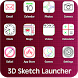 Sketch Theme Launcher 3D by Approids Tech