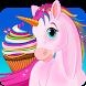 Unicorn Rainbow Food Bakery - Cake Cupcake & Bagel by Super Girl Studios