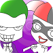 Coloring Harley Joker game by trap kids coloring game