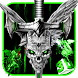 3D Evil Skull Sword Theme by Elegant Theme