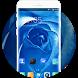 Theme for Motorola Moto M2 Blue Rose Wallpaper by Theme Guru