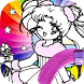 Color book sailor on moon by Anime Catoon Fans Games Coloring Book