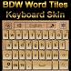 Word Tiles Keyboard skin by Baron Williams