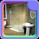 Frameless Single Shower Doors by Bryain