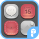 Silver And Red Icon Pack by SK techx for themes