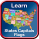 States Capitals Flags of United States of America