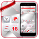 Red White Technology Theme by Launcher Fantasy