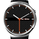 Carbon Fiber Dark Watch Face by ArkAndroid
