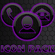 ICON PACK DARK SPACE 2 PURPLE by Tak Team Studio