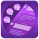 Purple SMS Theme by Super Themes