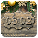 Christmas wooden clock