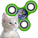 Fidget Spinner: Cats in Space by Russpuppy