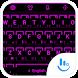 Keyboard Theme Neon 2 Purple by Luklek