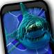 Angry Shark Pet Cracks Screen by Angry Shark Pets, Wallpapers and Games Tube 4 You