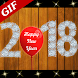 Happy New Year 2018 Greeting Cards GIF & Fireworks