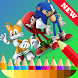 Coloring Book For Sonic Games by devnkiri