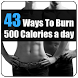 43 Ways to Burn 500 Calories by Xovato