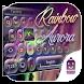 Rainbow Aurora 3D Emoji Theme by Best Keyboard Theme Design