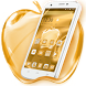 Golden crystal apple theme by free cool launcher theme