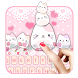 Lovely Cute Kitty Keyboard by Echo Keyboard Theme