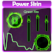 Green fire Poweramp Skin by Player Themes HD