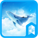 Simple Sky Blue Whale Illust Launcher theme by SK techx for themes