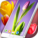Spring Tulips Live Wallpaper by 3D HD Moving Live Wallpapers Magic Touch Clocks
