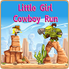 Little Girl Cowboy Run