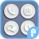 White Button Icon Pack by SK techx for themes