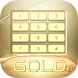 Gold Keyboard for Galaxy S6 by Colorful App Design