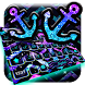 anchor purple blue anchor glow keyboard theme by Hello Keyboard Theme