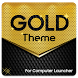 Gold Theme for Computer Launcher by Launchers Mart