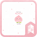 Simple pattern pink cute peach Launcher theme by SK techx for themes