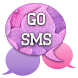 GO SMS - Glittery Flowers by SCSCreations