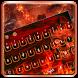Hell fire keyboard by Super Keyboard Theme
