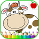 Farm Animals Coloring Book by TeachersParadise: Learning games for kids & adults