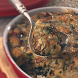 Savory Bread Pudding with Spinach & Mushrooms by Alonechain