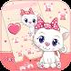 Pink Kitty Bow Cat Cartoon Theme