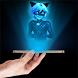 Cat Noir Hologram 3D joke by Kilouo