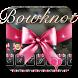 Black Leather Pink Bow tie Diamond Keyboard by Hello Keyboard Theme