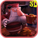 Christmas Santa 3D. Wallpaper by tbem