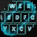 Neon Blue Keyboard Theme by Cicmilic Soft
