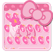 Hello pink cute kitty keyboard by HD wallpaper launcher tema