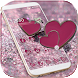 Pink Glitter Love Heart Theme