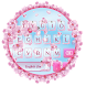 Spring Orchid Flowers Keyboard Theme by Pink Theme Designer