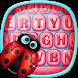 Sweet Keyboard Ladybug Theme by Fashion Corner Apps