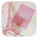 Pink Paris Eiffel Tower by Huizhang Theme