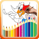 woodpecker coloring pages game free by Funny Coloring Page